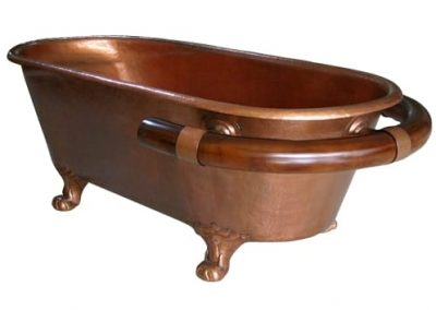 Bathtub Tembaga Combine Kayu