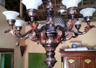 Lampu Robyong Tembaga 1 Tingkat