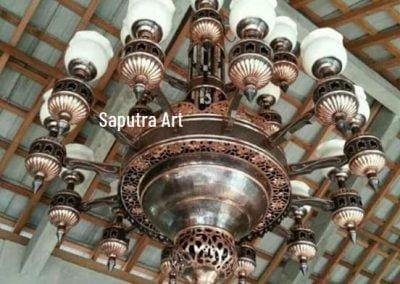 Lampu Robyong Tembaga 3 Tingkat