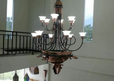 Lampu Robyong Tembaga 2 Tingkat