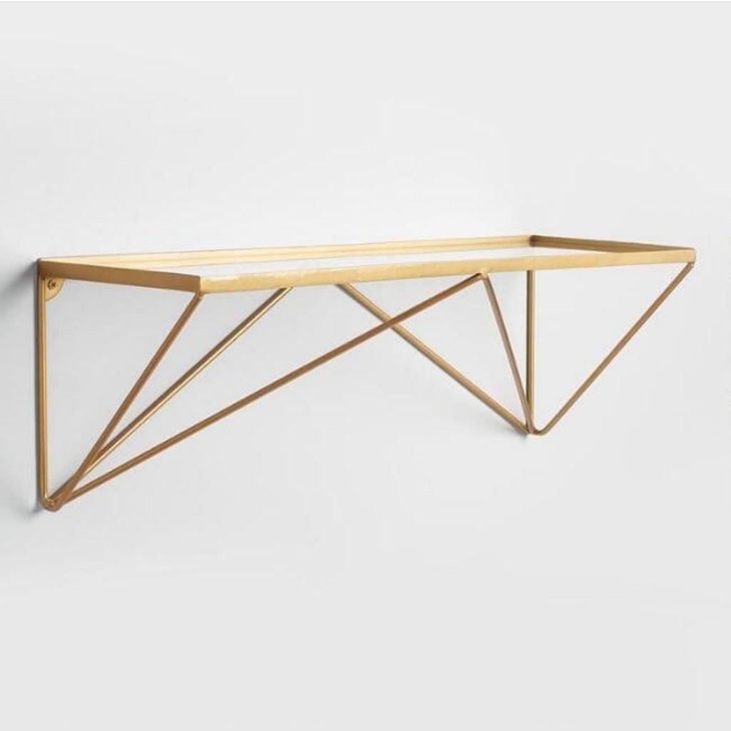 copper brass shelf