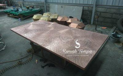 Meja Tembaga Custom