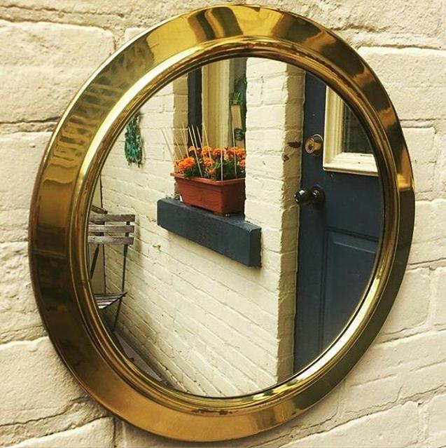 copper brass mirror