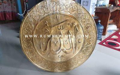 Kerajinan Kaligrafi Kuningan