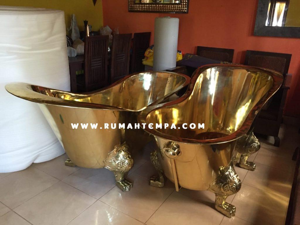 bathtub kuningan custom